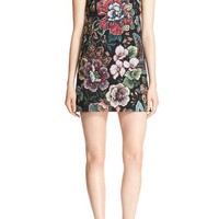 Alice + Olivia 'Clyde' Floral A-Line Shift Dress | Nordstrom