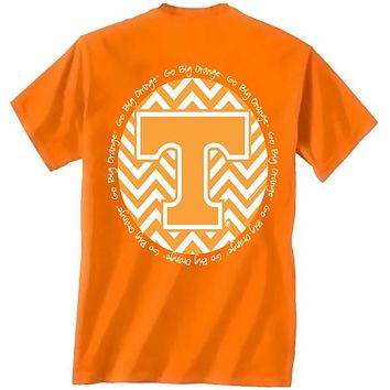 Tennessee Vols Volunteer Chevron Big Orange Logo Girlie Bright T Shirt