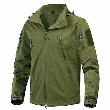 New Autumn Men's Jacket Coat Military Clothing Tactical Outwear US Army Breathable Nylon Light Windbreaker