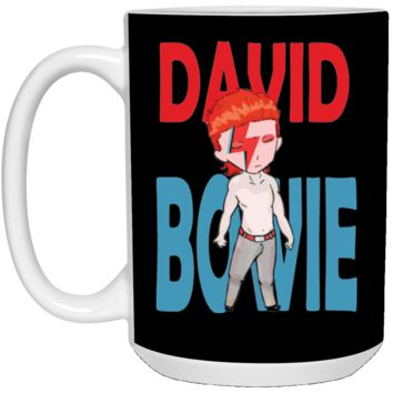 David Bowie Aladdin Sane Mens Navy Heather T-shirt (3)-01 21504 15 oz. White Mug