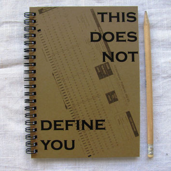This does not define you (testing scantron) - 5 x 7 journal