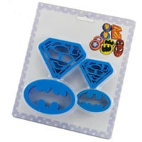 4 pcs Cookie Cutters Super Hero Batman Superman Sugarcraft Fondant Cake Decoration Shape Kitchen Baking Pastry Bakeware Tools