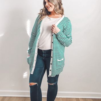 Hope Striped Cardigan