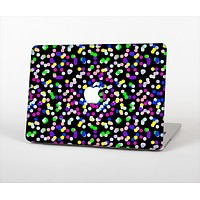 """The Multicolored Polka with Black Background Skin Set for the Apple MacBook Pro 13"""""""