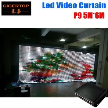 High Quality P9 5M*6M Led Video Curtain PC Mode Controller Tricolor 3IN1 LED Video Curtain For Wedding Backdrops