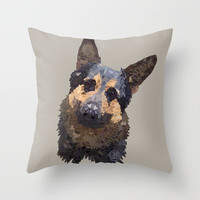 German Shepherd Throw Pillow by ArtLovePassion