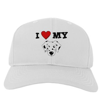 I Heart My - Cute Dalmatian Dog Adult Baseball Cap Hat by TooLoud