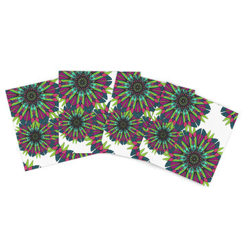"Alison Coxon ""Bright"" Outdoor Placemat (Set of 4) - Outlet Item"