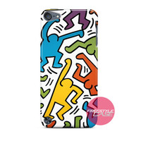 Keith Haring Puzzles Collage iPod Case Cover