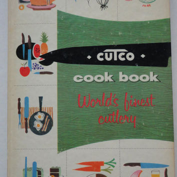 vintage CUTCO KNIFE cook book atomic housewife