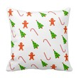 Pillow with Cheerful Christmas Theme