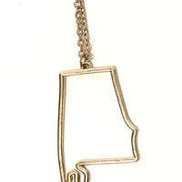 Riffraff | state outline necklace - Alabama