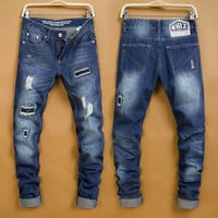 Winter Men Korean Fashion Jeans [6528597699]