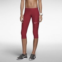 Nike Filament Women's Running Capris - Team Cardinal