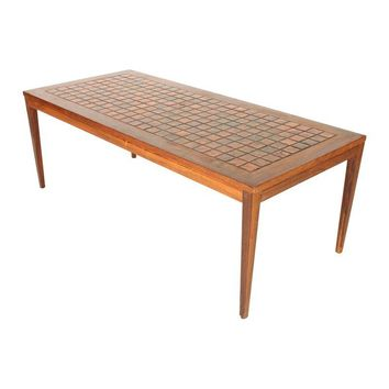 Pre-owned Danish Mid-Century Modern Tile Top Table