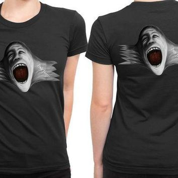 ESBP7V Pink Floyd Scream Face Blow Up 2 Sided Womens T Shirt
