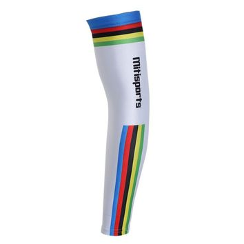 Striped Lettern Cycling Arm Sleeves