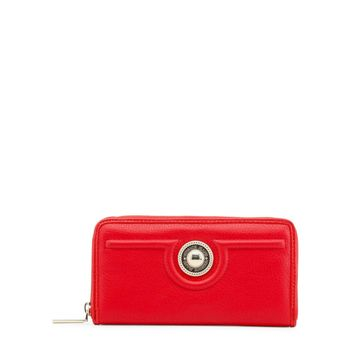 Versace Red Synthetic Leather Wallet
