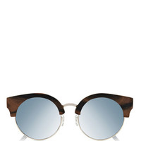 Thurloe Walnut Silver Lenses Sunglasses