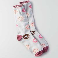 AEO Donut Crew Socks , Light Heather