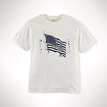 Ralph Lauren Childrenswear 8-20 Graphic Tee - Antique Cream