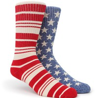 On The Byas Mix Matchacana Crew Socks - Mens Socks - Red/White/Blue - One