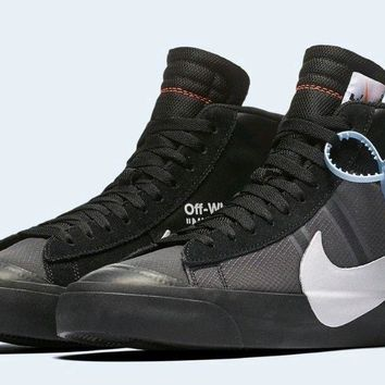 "New Authentic Off-White x Nike Blazer Mid ""Grim Reaper"" Men size 10"