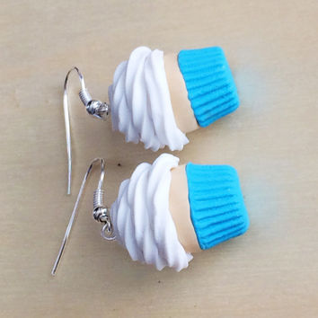 Polymer Clay Vanilla Cupcake Earrings