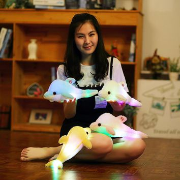 Plush Dolphin Doll Glowing Pillow,