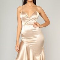 Vanessa's Favorite Maxi Dress - Gold