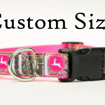 John Deere Dog Collar | Custom Fit Collar | 1 Inch wide Custom dog Collar | Made to Order Adjustable Custom Collar