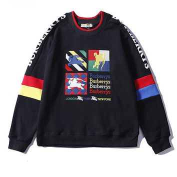 Burberry Woman Men Fashion Top Sweater Pullover