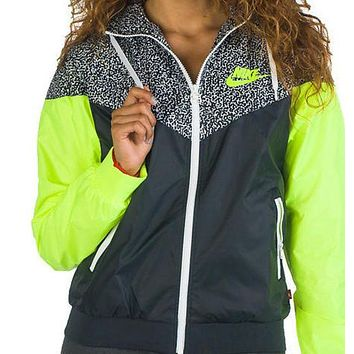 nike hooded zipper cardigan sweatshirt jacket coat windbreaker sportswear-16