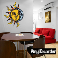 Occult Sun Moon Wall Decal - Vinyl Car Sticker - 7