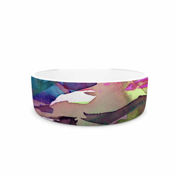 "Ebi Emporium ""Fervor 4"" Magenta Abstract Pet Bowl"