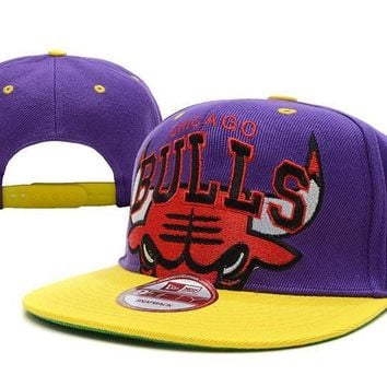 PEAPON Chicago Bulls NBA 9FIFTY Cap Purple-Red