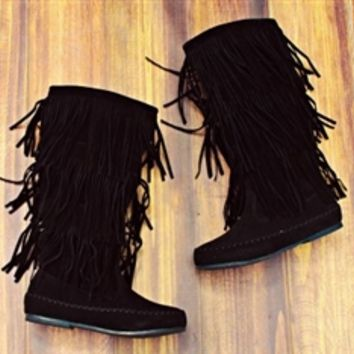Runaway Train Boot Black