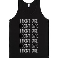 I Don't Care-Unisex Black Tank