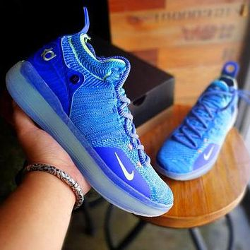 NIKE ZOOM KD11 Durant 11 men's and women's basketball shoes Blue