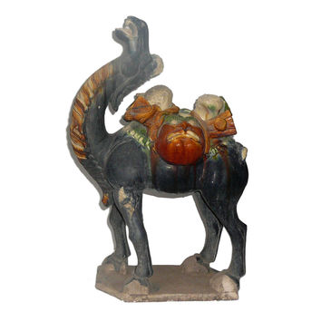 Chinese Pottery Clay Ancient Style Camel Figure cs533S
