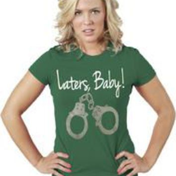 Laters Baby-50 Shades of Gray Women T-Shirt-Turquoise
