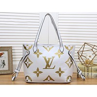 LV Fashion Hot Selling Women's Single Shoulder Bag Printed Colour Shopping Bag