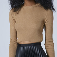 Long Sleeve Bodycon Cropped Top