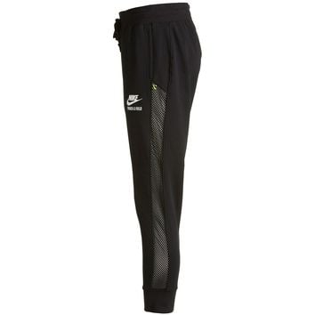 Nike Women's Track & Field Mesh-Mix Cuffed Pants, Black, Medium