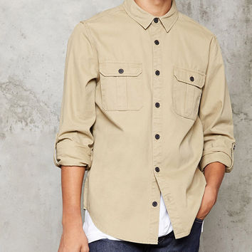 Button-Front Cotton Jacket