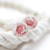 Crab Post Earrings - Nautical jewelry - Summer fashion jewelry - Free Worldwide Shipping
