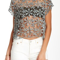 Floral Crocheted Blouse