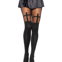 Cross Over Knee Tight Stockings