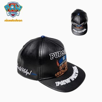 2018 Genuine PAW Patrol Adjustable 53.5cm for age 2-10 years high quality PU leather spring autumn hat kids fashion pop toy gift