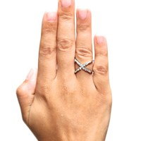 Cross My Heart ring, silver